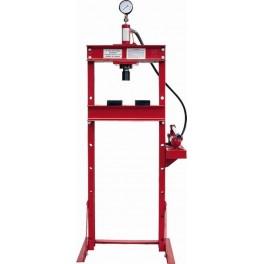 Presse d'atelier hydraulique 10 T avec mano et commande manuelle